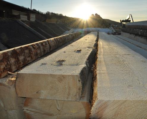 Bauholz für Häuslbauer beim Sägewerk Pfoser in Ulrichsberg